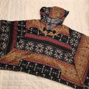 Aztec Inspired Hooded Poncho